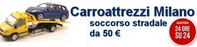 Carroattrezzi Milano da 50 € – Soccorso stradale 24 ore